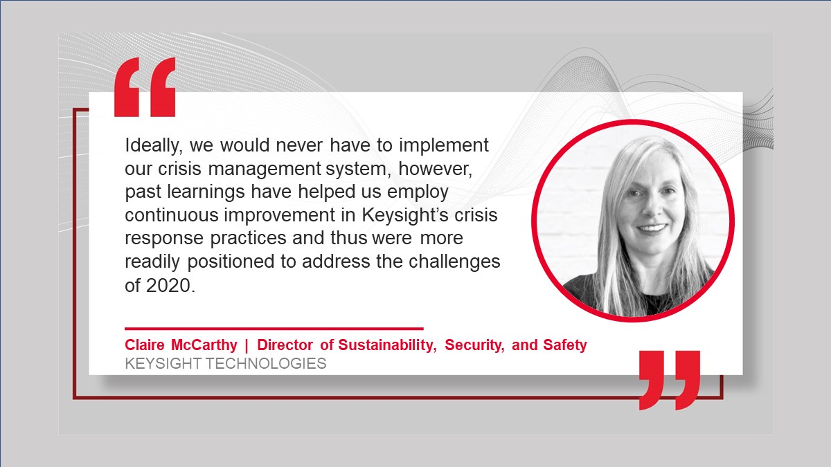 Q&A with Keysight's Crisis Incident Commander