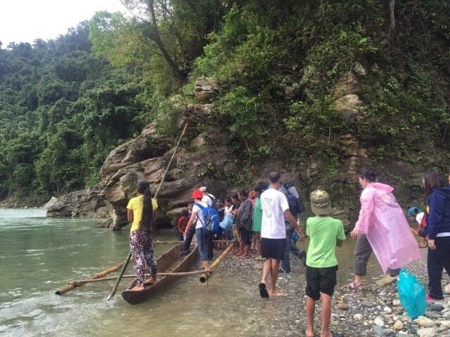 Our trip to Mindoro entailed river crossing and muddy treks
