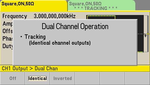 Dual channel tracking setup